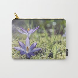 Queen and King - Crocus in a meadow - Spring Carry-All Pouch