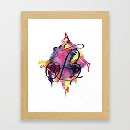 Calligraphy Capital Initial B Framed Art Print