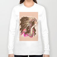 oklahoma Long Sleeve T-shirts featuring Oklahoma  by Hollyce Jeffriess Designs