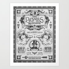Legend of Zelda Bomb Advertisement Poster Art Print