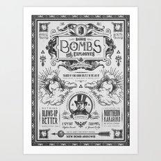 Legend of Zelda Bomb Advertisement Poster Art Print