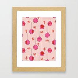 Christmas ornament pattern Framed Art Print