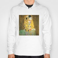gustav klimt Hoodies featuring Gustav Klimt The Kiss by Art Gallery
