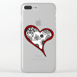 Tangled heart Clear iPhone Case