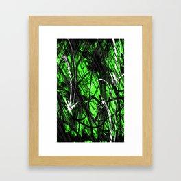 Green Graffiti  Framed Art Print
