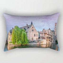 Bruges sunset Rectangular Pillow