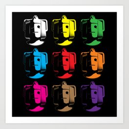 Cyberman Pop Art Art Print