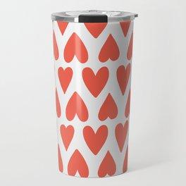 Shapes Nr. 4 - Red Hearts Travel Mug