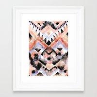 southwest Framed Art Prints featuring Southwest Floral by Casey Saccomanno