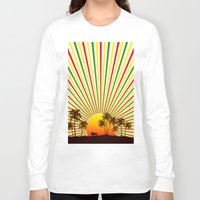 reggae Long Sleeve T-shirts featuring Sunshine Reggae by A-Devine