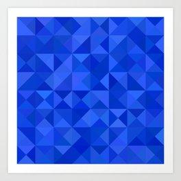 Blue pyramids Art Print