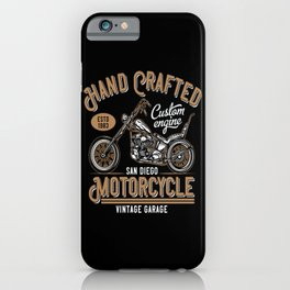 Custom Motorcycle Hand Crafted iPhone Case