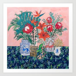 The Domesticated Jungle - Floral Still Life Kunstdrucke
