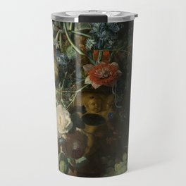 Jan van Huysum - Still life with flowers and fruits (1721) Travel Mug