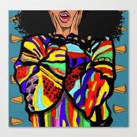 big poppa Canvas Prints featuring Big Poppa by Hannah  Aryee