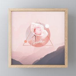 Breathe Framed Mini Art Print