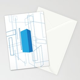 Blueprint #3 (blue) Stationery Cards