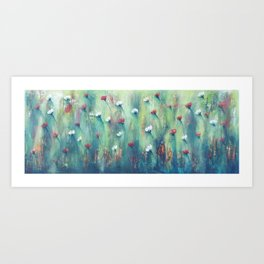 Dancing Field of Flowers Art Print