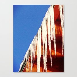 Ice, Line and Sky Canvas Print