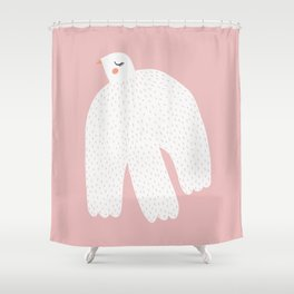 White Dove Shower Curtain