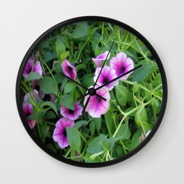 More Flowers Wall Clock