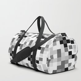 Grayscale Squares Duffle Bag