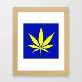Weed Hash Bash Blue Framed Art Print