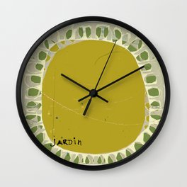 « jardin » Wall Clock