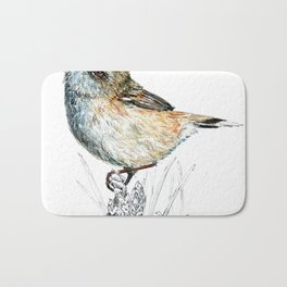 Mr Riroriro, the New Zealand Grey Warbler Bath Mat