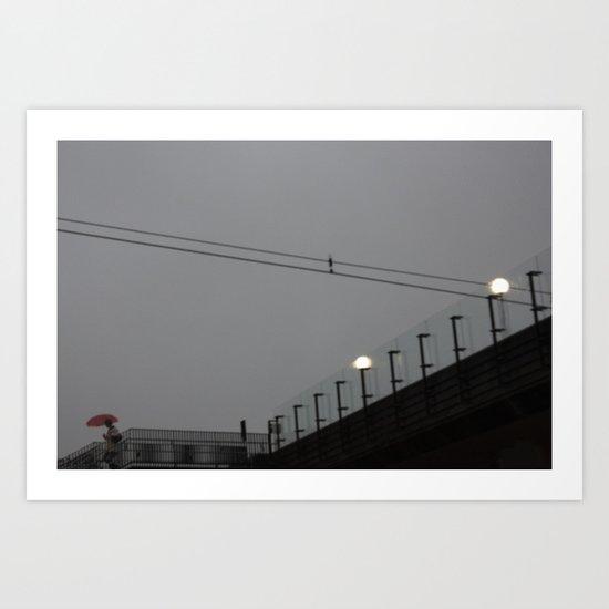 togstasjonen Art Print