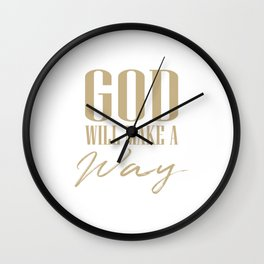 God will make a way,Christian,Bible Quote Wall Clock