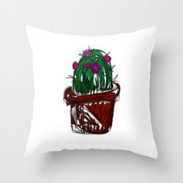 Jan the Cactus Throw Pillow