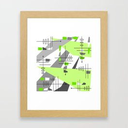 Mid-Century Modern Atomic Age Abstract Framed Art Print