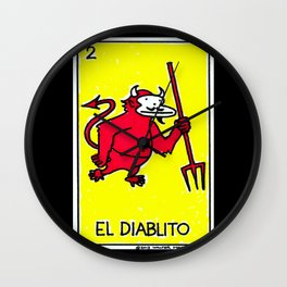 Loteria Ape #2: El Diablito Wall Clock