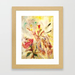Sensual flower 4 Framed Art Print