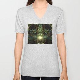 Hybrid Theory - Fractal - Visionary Art - Alien - Shaman Unisex V-Neck