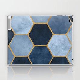 Winter Palace / blue and gold geometric design Laptop & iPad Skin