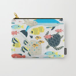 Coral reef animals Carry-All Pouch