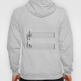 Blank Music Stave Hoody