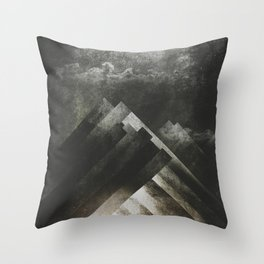 Mount everest and me Throw Pillow