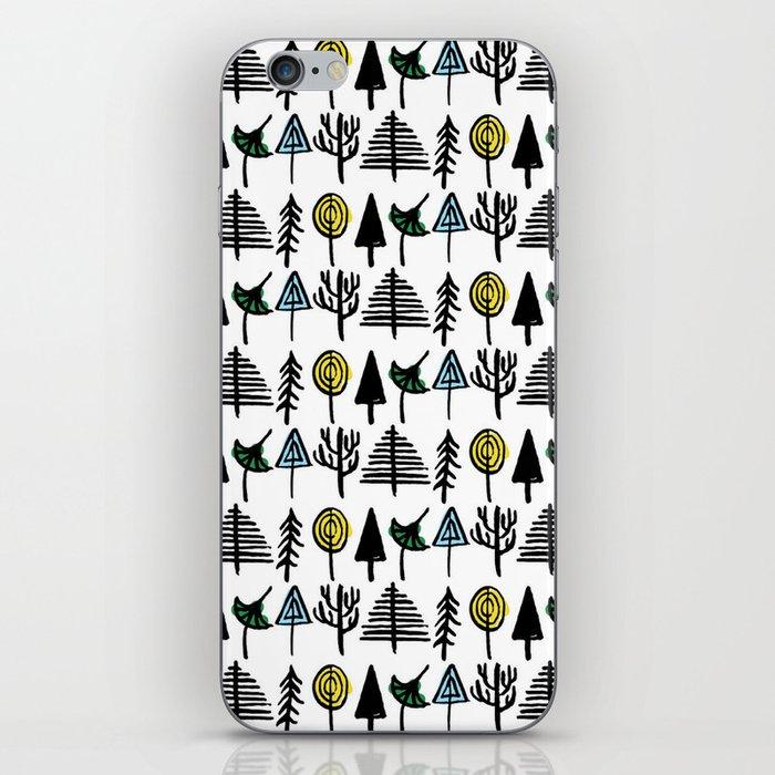 Hand drawn tree pattern iPhone Skin