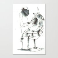 dentist Canvas Prints featuring Dentist by Arkories