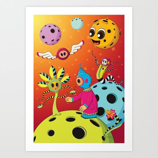 Space Garden Art Print