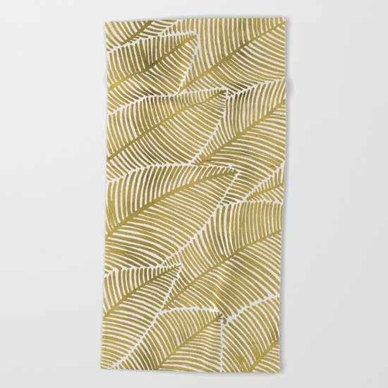 Tropical Gold Beach Towel