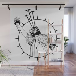 Manipulated Statue Of Liberty Wall Mural