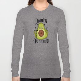 Devil's Avocado Spicy Keto Guacamole Lover Long Sleeve T-shirt