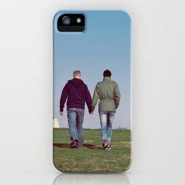Gay Men Holding Hands iPhone Case