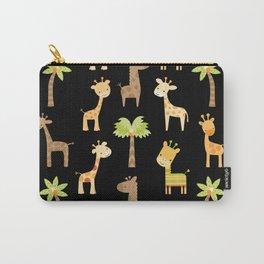 Giraffes - black Carry-All Pouch