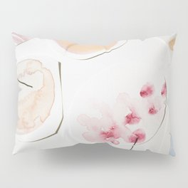 Minimalist Watercolor Collage Detail II Pillow Sham