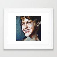 sylvia plath Framed Art Prints featuring Sylvia Plath by Amy Wicherski